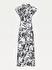Palmiye Desenli Viskoz Maksi Gömlek Elbise
